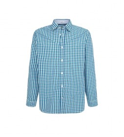 Camisa Cuadaro Vichy Lonnie azul
