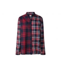 Camisa a cuadros Olivianne rojo