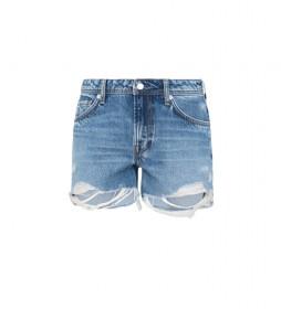 Shorts Denim Thrasher Destroy azul