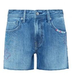 Shorts Thrasher floral denim azul