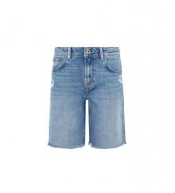 Shorts Denim Violet azul