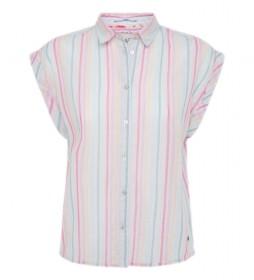 Camisa Virginia blanco, multicolor