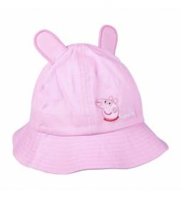 Gorro Pescador Peppa Pig rosa