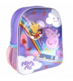 Mochila Infantil Confetti Peppa Pig lila -25x31x1cm-
