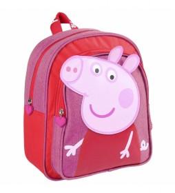 Mochila Peppa Pig rosa -25.5x30x10cm-