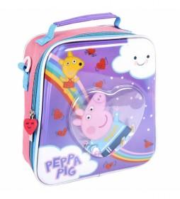 Neceser Comedor Confetti Peppa Pig lila -22x23x8cm-