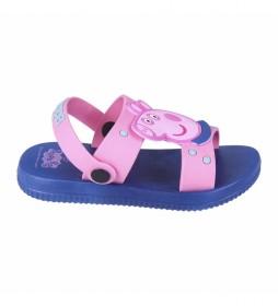 Sandalias Playa Pvc Peppa Pig rosa, azul