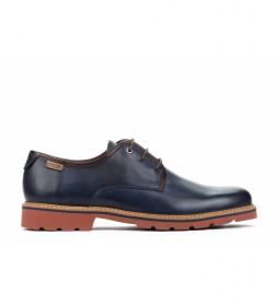 Zapatos de piel Bilbao M6E azul