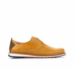 Zapatos de piel Berna M8J amarillo