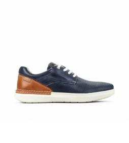 Zapatos de piel Begur M7P azul