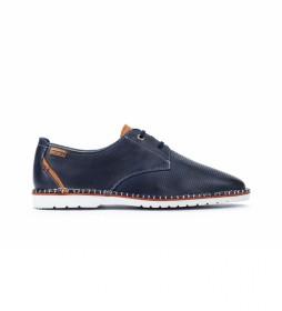 Zapatos de piel Albir M6R azul
