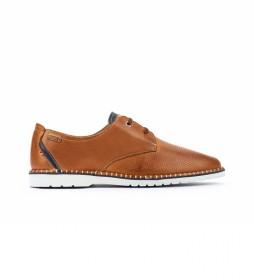 Zapatos de piel Albir M6R marrón
