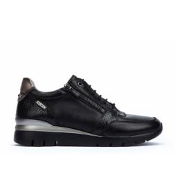 Zapatillas de piel Cantabria negro