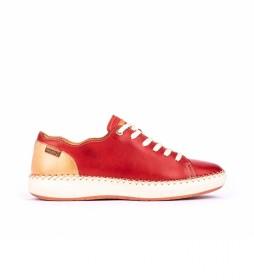 Zapatillas de piel  Mesina W6B coral
