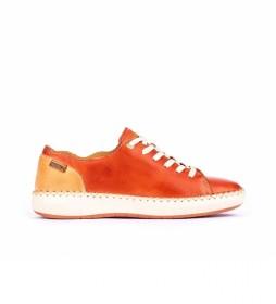 Zapatillas de piel  Mesina W6B naranja