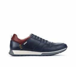 Zapatillas de piel Cambil M5N azul
