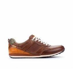 Zapatillas de piel Liverpool M2A marrón