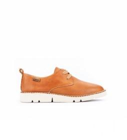 Zapatos de piel Vera W4L-6780 marrón camel