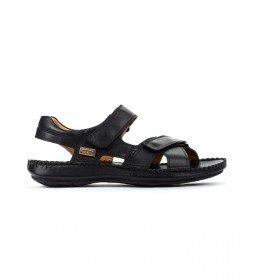 Sandalias de piel Tarifa 06J negro