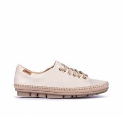 Zapatillas de piel Riola W3Y-4925C1 blanco