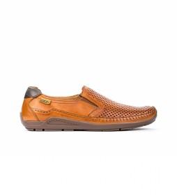 Zapatos de piel Azores 06H marrón