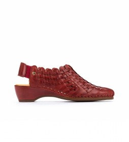 Zapato de piel Romana W96 rojo