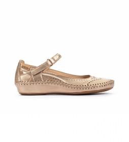 Sandalias de piel P. Vallarta 655-0887CL dorado