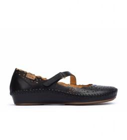 Sandalias de piel  P. Vallarta negro