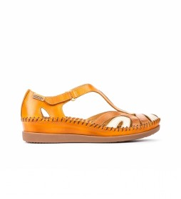 Sandalias de piel Cadaques W8K  mostaza