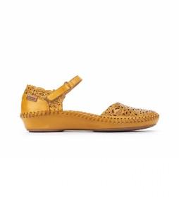 Sandalia de piel P. Vallarta 655-0906 amarillo