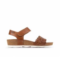 Sandalias de piel Mahon W9E marrón