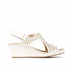 Sandalias de piel Margarita 943 blanco -Altura cuña: 5cm-