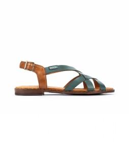 Sandalias de piel Algar W0X turquesa