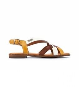 Sandalias de piel Algar W0X amarillo