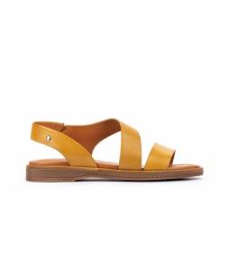Sandalias de piel  Moraira W4E amarillo