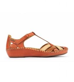Sandalias de piel  P. Vallarta  naranja