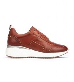 Zapatillas de piel Sella W6Z marrón -Altura cuña: 4.3cm-
