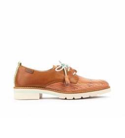 Zapatos de piel Sitges W7J-4846C1 marrón