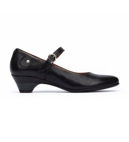 Zapatos de piel Blanca negro