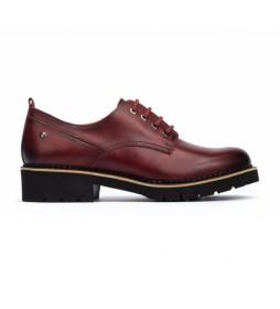 Zapatos de piel Vicar granate