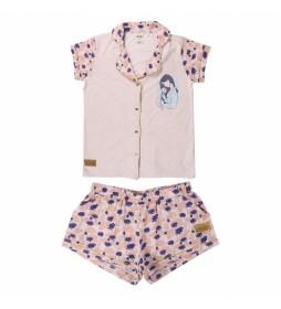 Pijama Corto Single Jersey Princess Mulan rosa