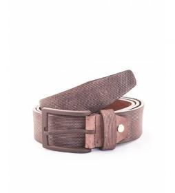 Cinturón de piel CIPR73625 marrón
