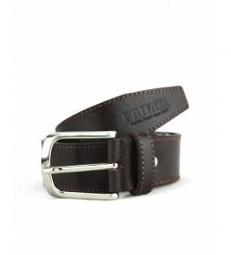 Cinturón de piel CIPR74008 marrón