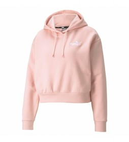 Sudadera ESS+ Embroidered Cropped Hoodie  rosa