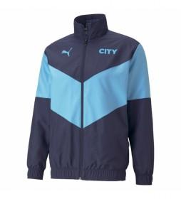 Chaqueta MCFC Prematch azul