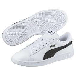 Zapatillas de piel Puma Smash v2 L blanco, negro