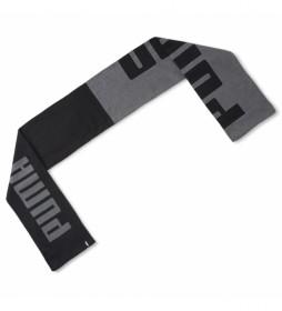 Bufanda Knit negro-gris