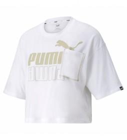 Camiseta Puma Power Boxy blanco
