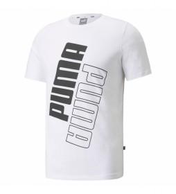 Camiseta Puma Power Logo blanco