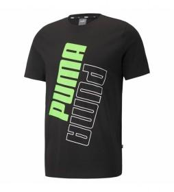 Camiseta Puma Power Logo negro